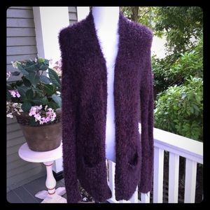 TOPSHOP Fuzzy Soft Long Length Cardigan